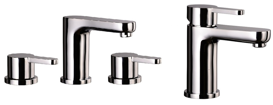 Mayfair Eion Basin Mixer & 3 Hole Bath Filler Tap Set